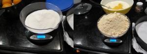 Same weight, much bigger volume of almond flour.