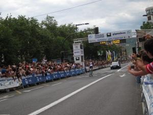 Tony Gallopin winning the San Sebastian Classic.