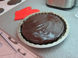 Don't have a wire rack, do have...a random tart pan bigger than the springform? Sure!