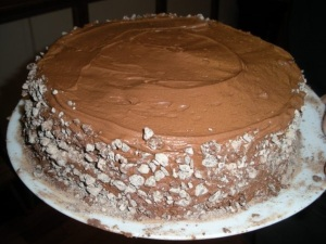 The one other picture I have of the old cake. A bit nicer looking...